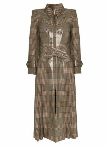 Fendi check PVC coated trench coat - Grey