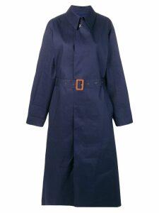 Maison Margiela belted trench coat - Blue