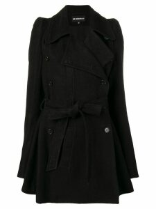 Ann Demeulemeester belted trench coat - Black