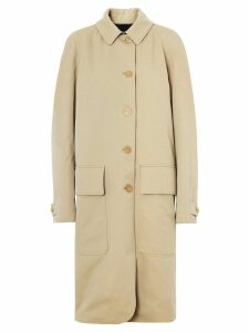 Burberry Dayrell wool lined cotton car coat - NEUTRALS