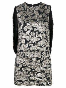 Saint Laurent floral short dress - Black