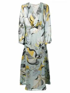 Emilio Pucci Frida Print Cady Lamé Evening Dress - Grey