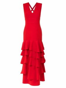 Olympiah ruffled gown - Red