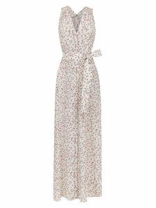 Egrey long silk dress - White