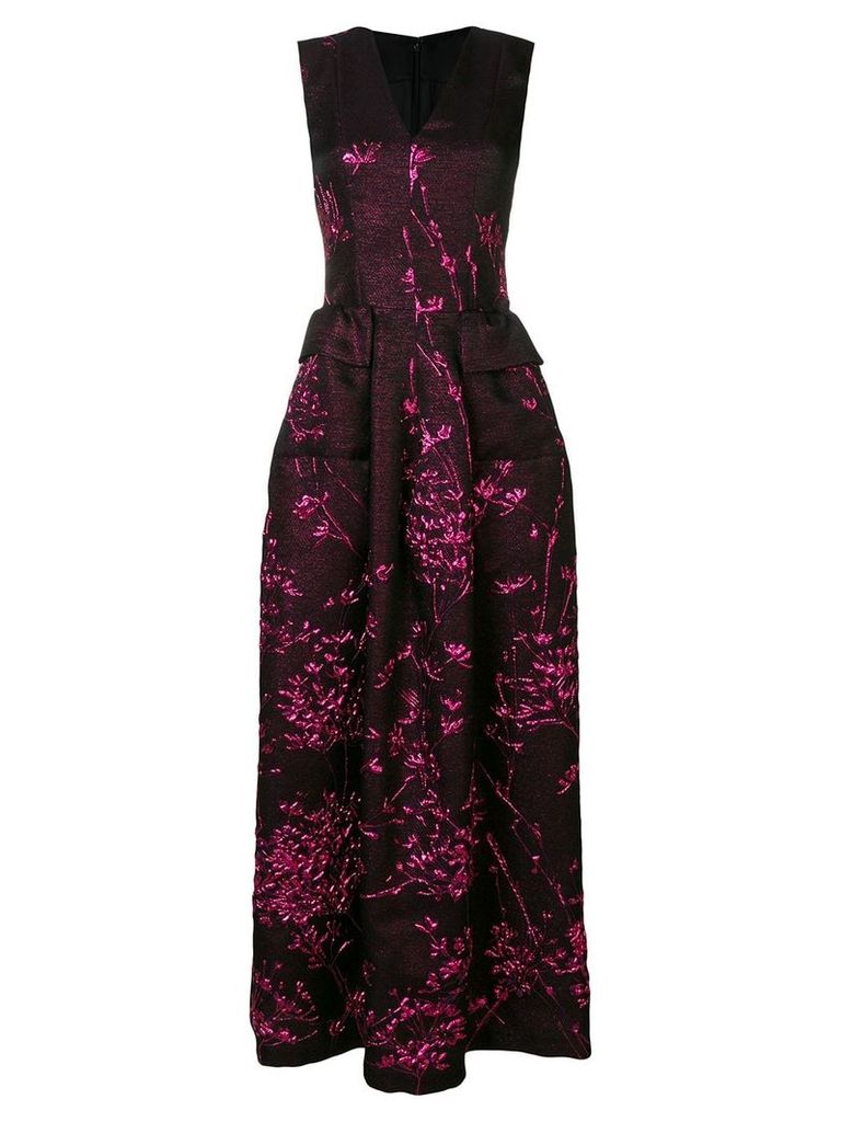 Talbot Runhof long jacquard gown - Black