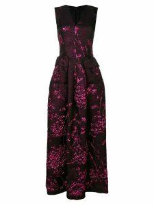Talbot Runhof long jacquard gown - Black