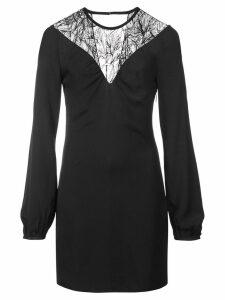 Roberto Cavalli floral lace detail dress - Black