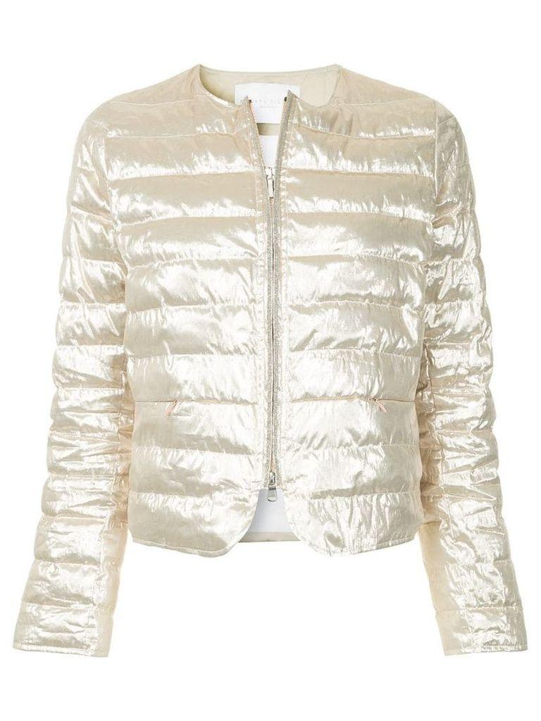 Fabiana Filippi zipped puffer jacket - Metallic