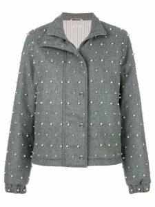 Thom Browne Flannel Down Jacket - Grey
