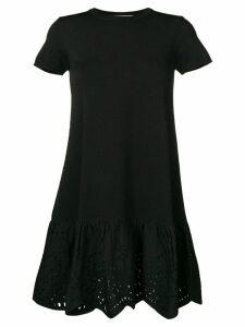 Valentino broderie anglaise trim dress - Black