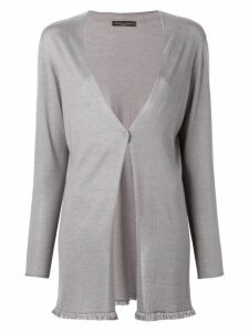 Fabiana Filippi one-button knit coat - Grey