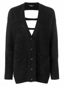 Diesel M-Den cut-out details cardigan - Black