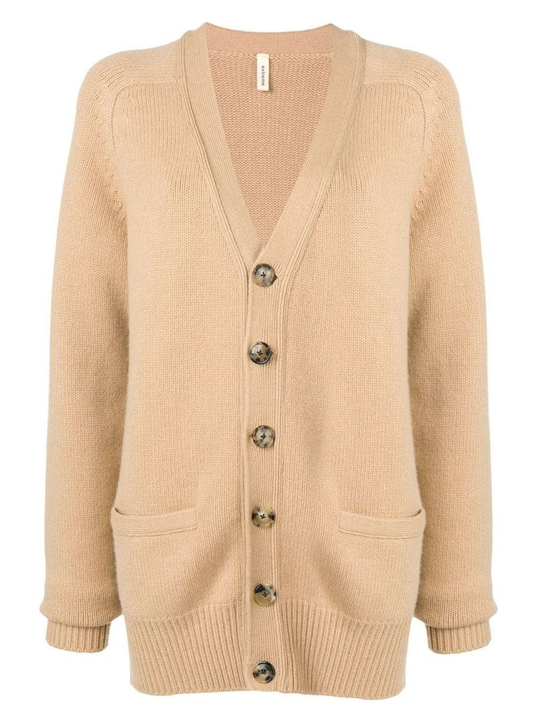 Extreme Cashmere v-neck cardigan - Brown