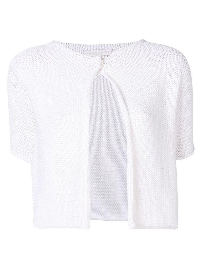 Fabiana Filippi cropped cardigan - White