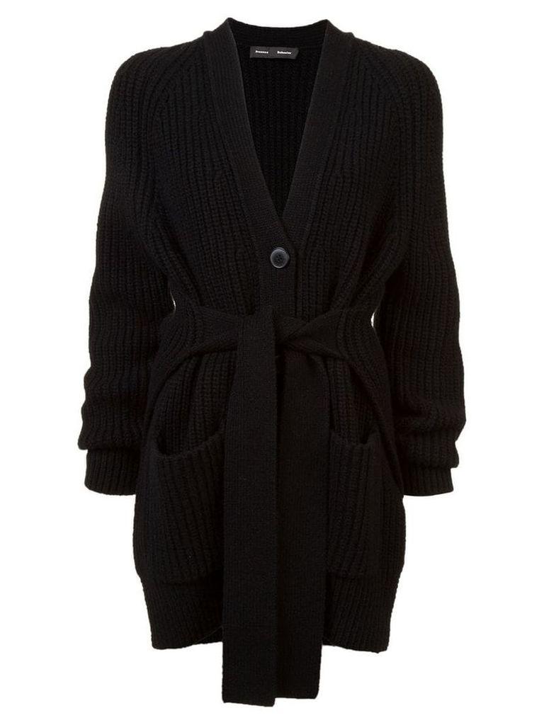 Proenza Schouler Cotton Cashmere Cardigan - Black