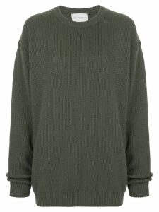 Strateas Carlucci Macro knit sweater - Grey