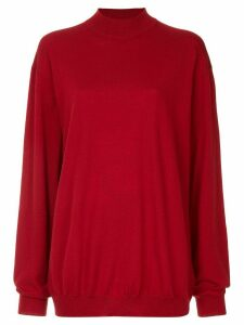 Strateas Carlucci Skivvy knit sweate - Red
