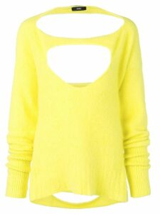 Diesel cut-out details jumper - Yellow