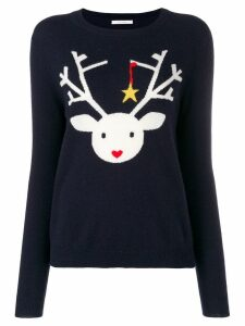 Chinti & Parker deer knitted sweater - Blue