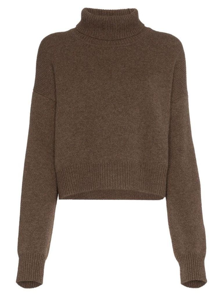 Rejina Pyo turtleneck slouchy cashmere jumper - Brown