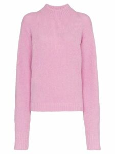 Tibi High neck wool sweater - Pink