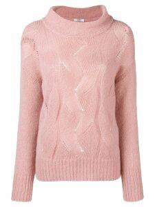 Peserico braid knit sweater - Pink
