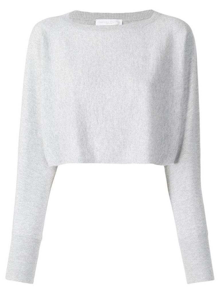 Fabiana Filippi cropped sweater - Grey