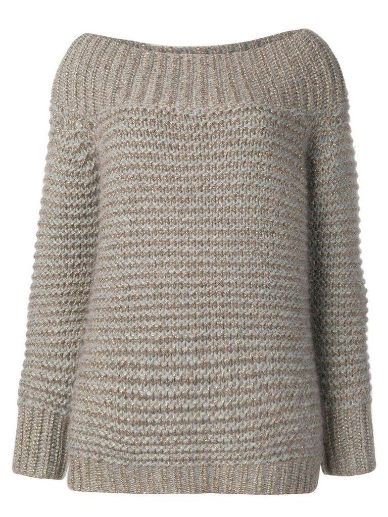 Fabiana Filippi off-shoulder sweater - Gold
