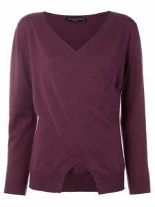 Fabiana Filippi wrap-front cashmere sweater - Purple