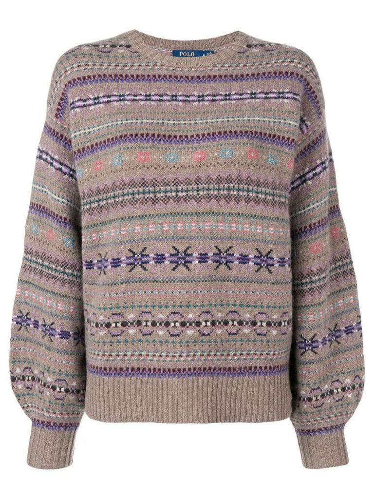 Polo Ralph Lauren embroidered christmas sweater - Neutrals