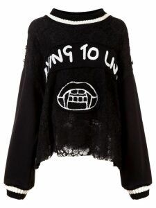 Haculla Dying to live patch sweater - Black