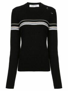 Proenza Schouler PSWL Merino Cashmere Stripe Sweater - Black