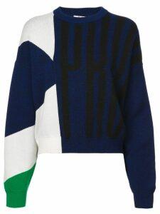Proenza Schouler PSWL Graphic Jacquard Sweater - Blue