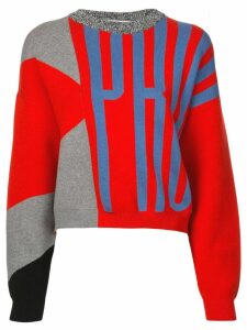 Proenza Schouler PSWL Graphic Jacquard Sweater - Red
