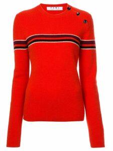 Proenza Schouler PSWL Merino Cashmere Stripe Sweater - Red