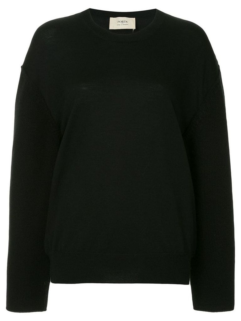 Ports 1961 long-sleeved sweater - Black