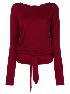 Chalayan back tie jumper - Red