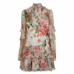 Philipp Plein Flower Dress