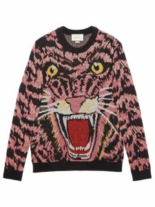 Gucci Lurex wool tiger sweater - Black