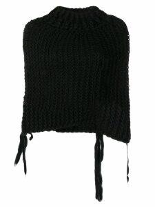 Masnada cropped knit sweater - Black