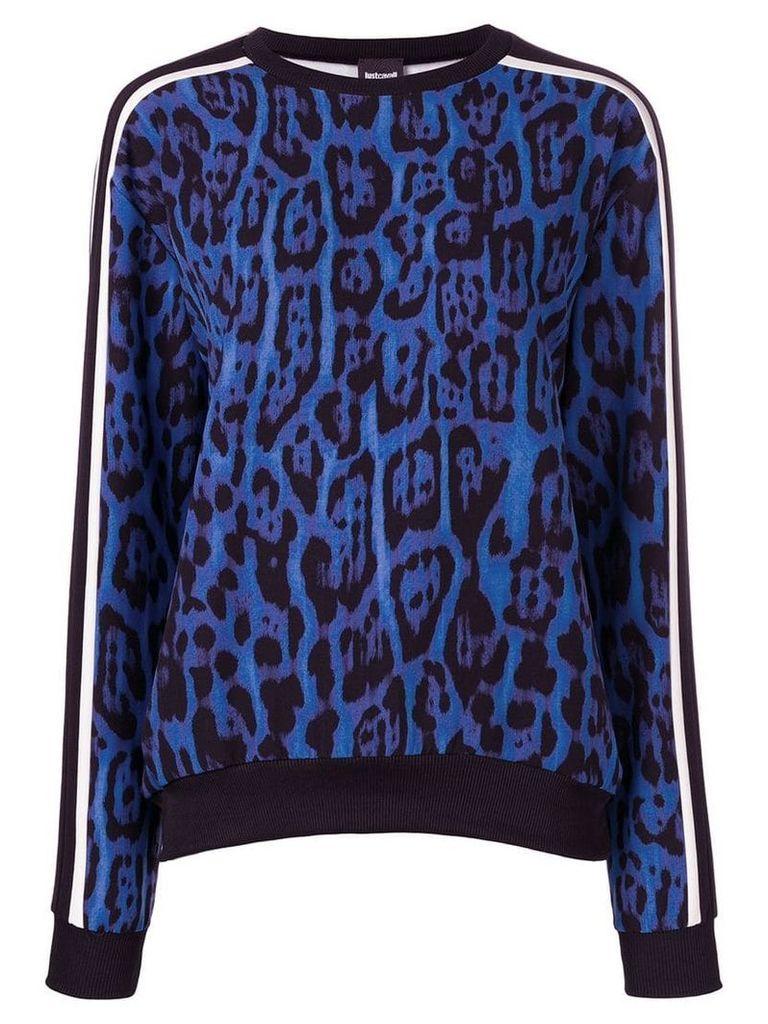 Just Cavalli leopard print sweatshirt - Blue