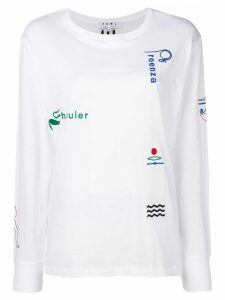 Proenza Schouler Embroidered Long Sleeve T-shirt - White