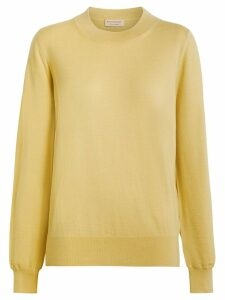 Burberry Logo Detail Merino Wool Sweater - Yellow