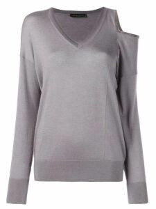 Fabiana Filippi shoulder cut-out sweater - Grey