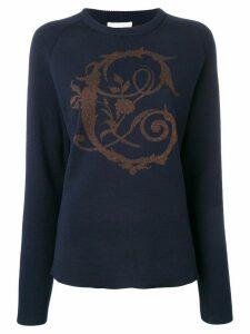 Chloé baroque lurex intarsia sweater - Blue