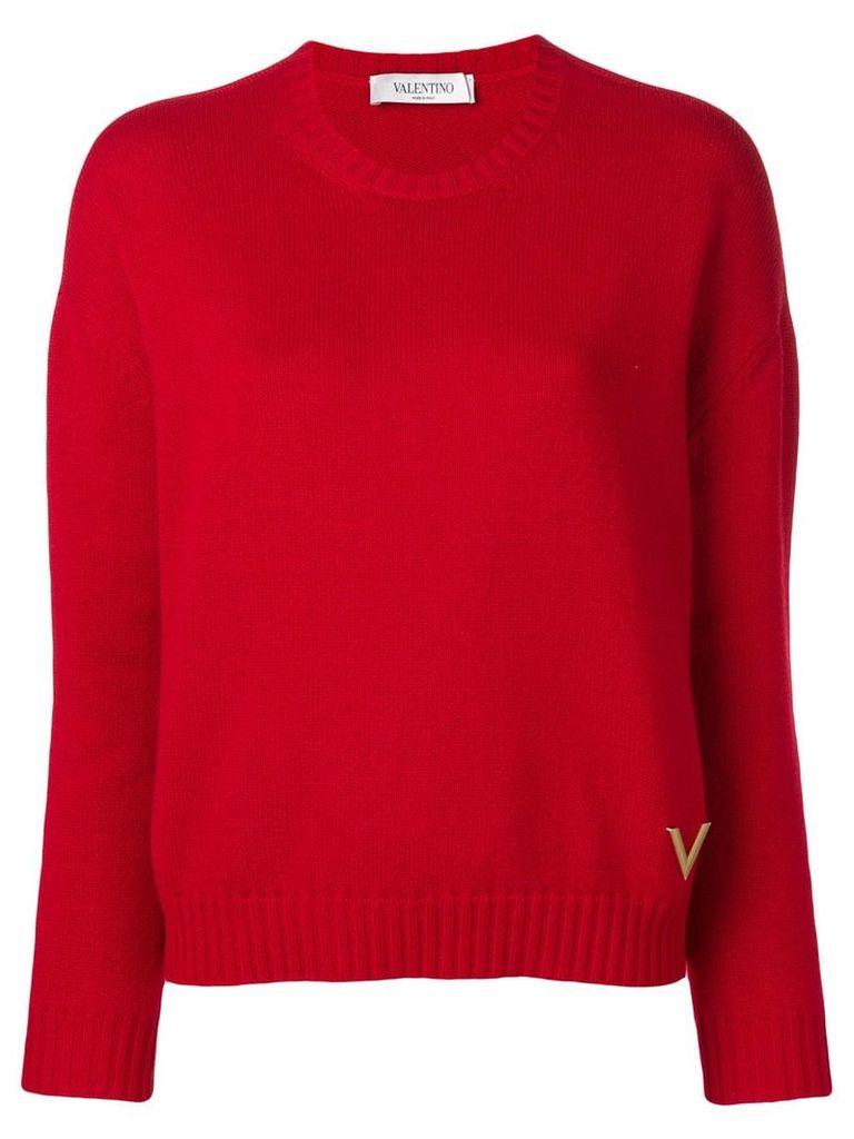 Valentino crew-neck cashmere jumper - Red