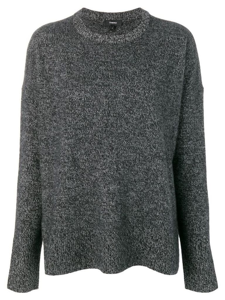 Theory baggy style knitted jumper - Grey