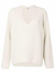 Acne Studios Deborah V-neck sweater - White