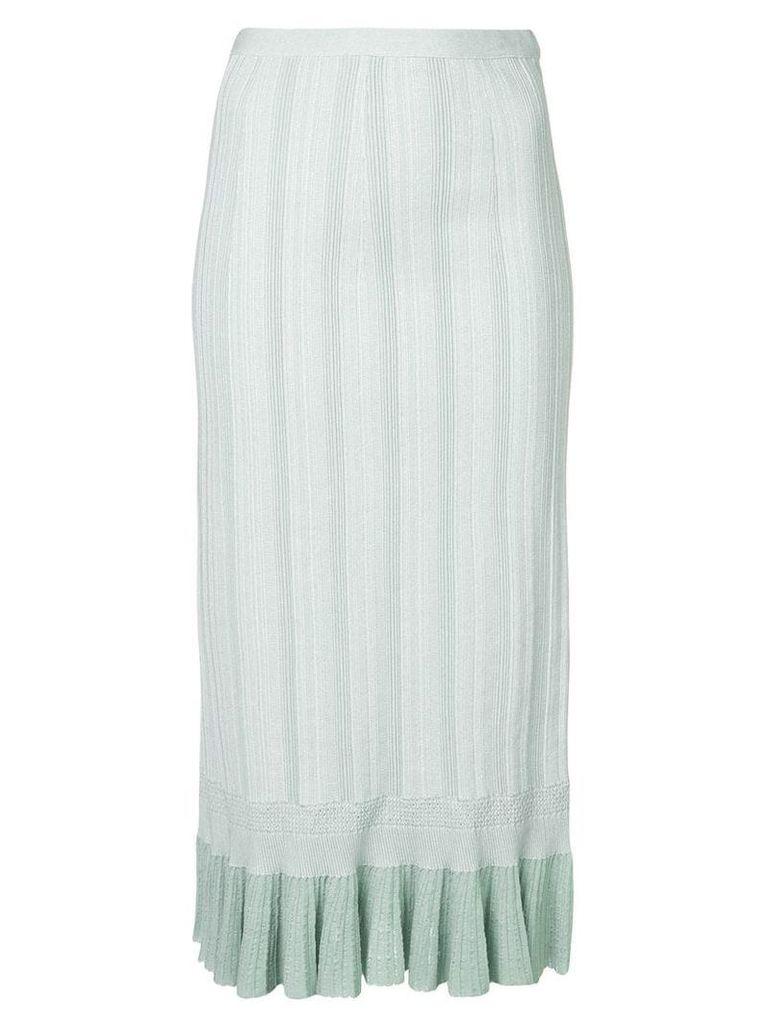 Proenza Schouler Plissé Knit Skirt - White