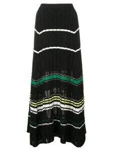 Proenza Schouler Striped Rib Knit Skirt - Black
